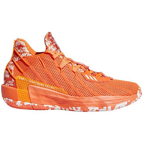 adidas Dame 7 Shoe - Unisex Basketball Solar Red/White