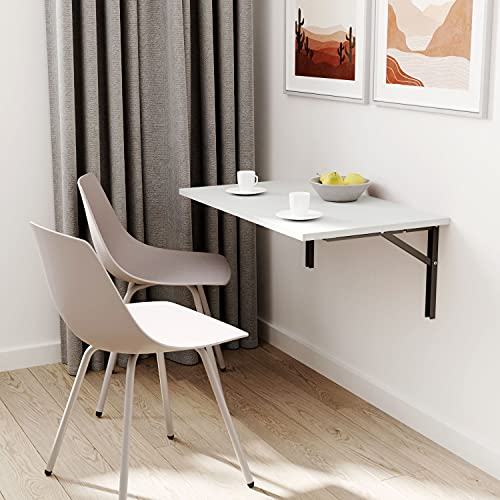 ts-ideen - Mesa plegable (80 x 35 cm), color gris claro