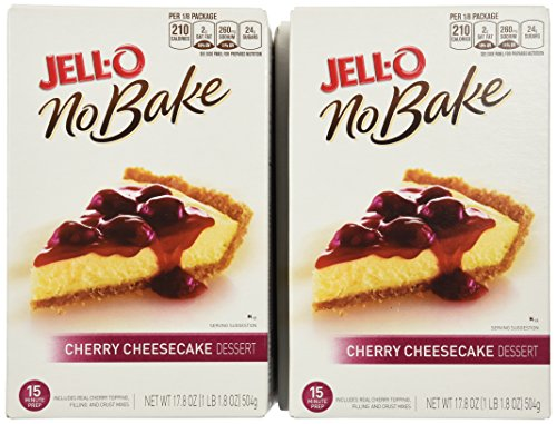 Jell-O No Bake Cherry Cheesecake, 17.8-Ounce Boxes (Pack of 5)