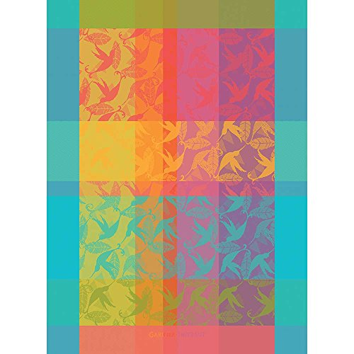 Garnier Thiebaut - Geschirrtuch - Küchentuch - Trockentuch - Mille Colibris Antilles - Baumwolle - 56 x 77 cm