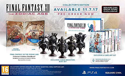 FINAL FANTASY XII THE ZODIAC AGE - COLLECTOR'S EDITION [PS4]