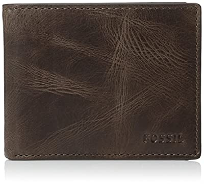 Fossil Men's International Combination Wallet, Dark Brown