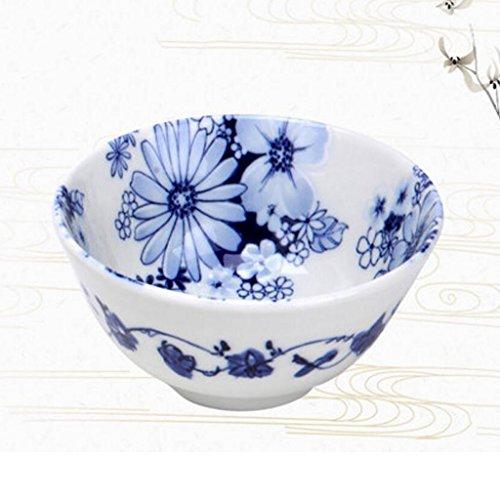 MXJ61 Vaisselle Soup Bowl Face Bowl Large Soupe À Domicile Bassin Bol De Riz Dessert Bowl Céramique (Taille : 12 * 6cm)