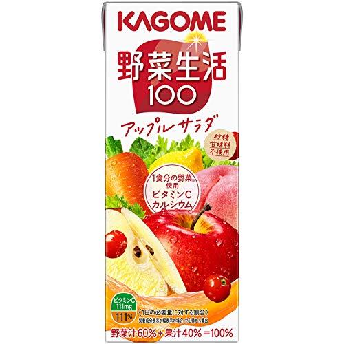 野菜生活100 アップルサラダ 200ml×24本 紙パック