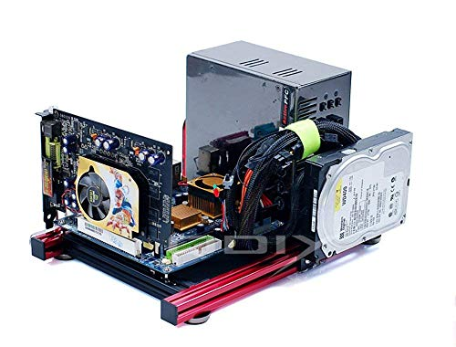 ITX Motherboard Test Bench Open Air Frame Computer Case Aluminum Bracket DIY Bare Frame Support Graphics Card