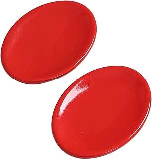 WishToBuy 2pcs Red Soap Box, Bathroom Ceramic Soap Dish.