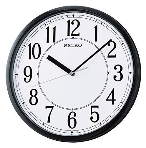 Seiko Orologio da Parete in plastica, Nero, 305 mm