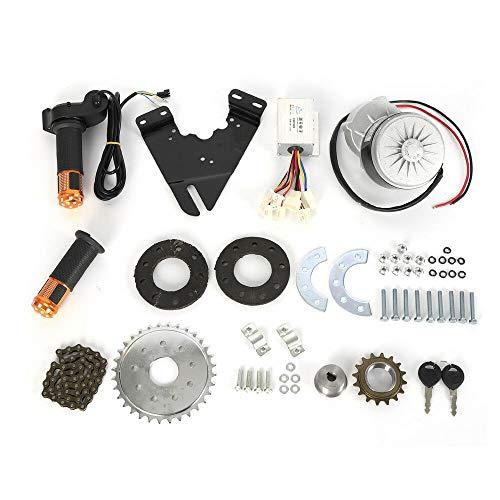 OUKANING Kit de Motor de accionamiento de Mano Izquierda de Bicicleta eléctrica 250W 24V para transmisión de Cadena de Bicicleta Personalizada