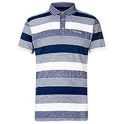 Men's Polo Shirt Regular Fit Fold Down Collar 3 Button Placket Short Sleeves