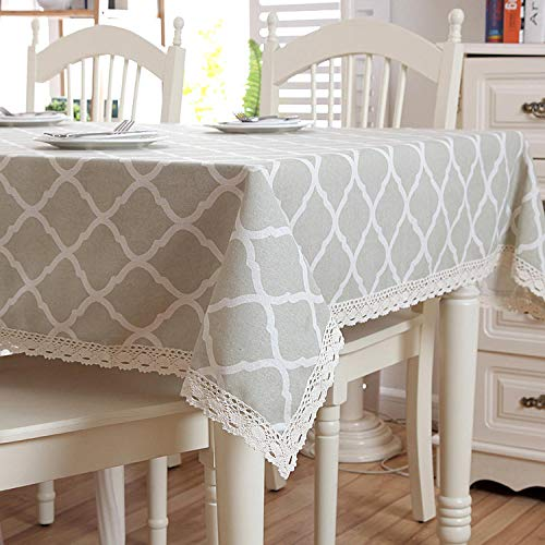 GTWOZNB Tablecloth for Solid Table Cover for Wedding Restaurant Party Buffet Table Simple geometric diamond lace-With lace_60X60CM