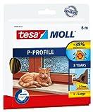 Tesa 05390-00111-00 - Junta De Goma Para Puertas Y Ventanas, Perfil P, Brown, color: marrón