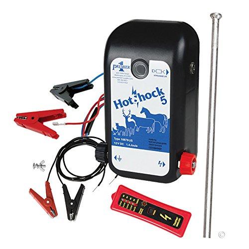 Premier HotShock 5 (Battery) Fence Energizer Kit with .5 Joule Energizer