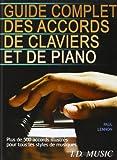 Guide complet des accords de claviers et de piano