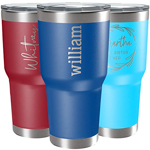 Personalized Tumblers, Stainless Steel 30 oz