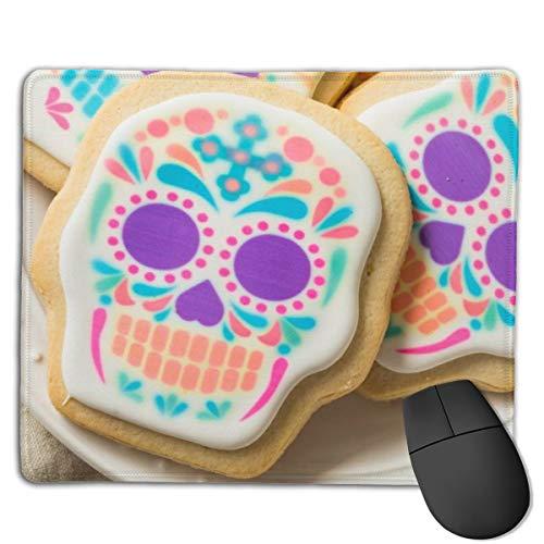 Mousepad Hausgemachte mexikanische Zuckerschädel-Kekse Dia Mausmatte, mittelgroße Gaming-Mauspad mit wasserfester Oberfläche, rutschfeste Gummibasis