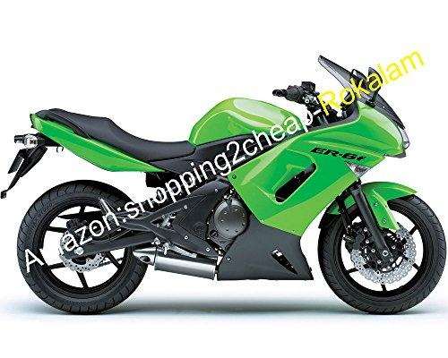 Ninja ER6F 650R Kit de carenado de motocicleta 06 07 08 para Kawasaki ER-6F 2006 – 2008 ER 6F verde ABS carenados Set (moldeo por inyección)