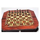 Ya-Ya yaya ajedrez Metal Brillante Vintage Chapado en Oro Piezas de ajedrez sólido Tablero de ajedrez de Madera Profesional Juegos de ajedrez Set Regalos Tablero de ajedrez