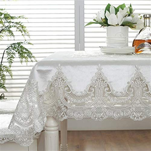 Kitchen Home Lace Tablecloth Europe Luxury Embroidered Tablecloth Table Dining Table Cloth Lace Table Cloth Thick Gold Velvet Retro Kitchen Home Fabric Chair Cover