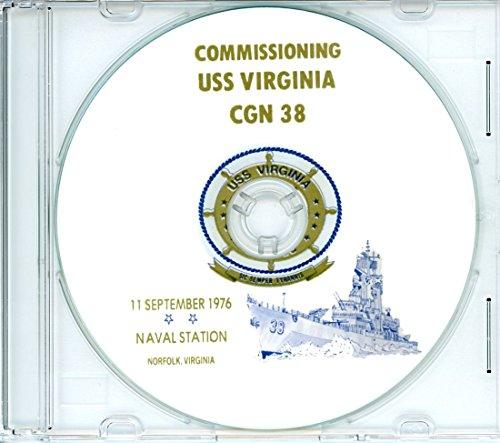 USS Virginia CGN 38 Commissioning Program on CD 1976