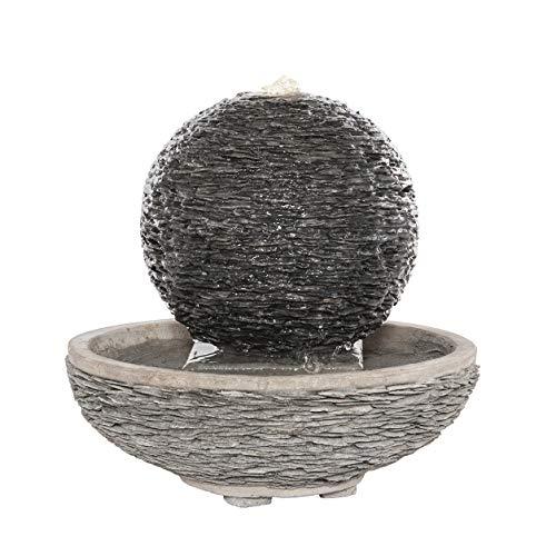 Gardenesque Slate Globe Water Feature with Pump & LED Light (Medium)