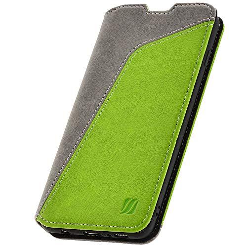 overz® Handyhülle für Samsung Galaxy S10 Hülle - Kompatibel mit Galaxy S10 Schutzhülle Handy-Tasche Flip Case Cover Grün