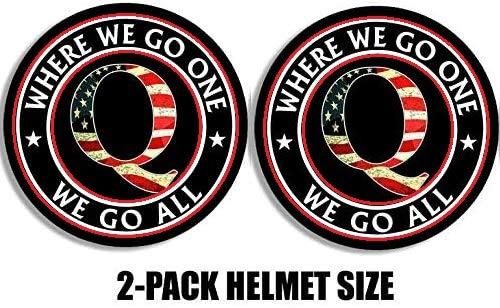 Two (2) Best Seller   # WWG1WGA Hard HAT Sticker USA Q Flag New - Sticker Decal Rabbit Qanon Trump WWG1WGA
