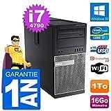 Dell PC Tour 9020 Intel Core i7-4790 RAM 16Go Disque Dur 1To Windows 10 WiFi...