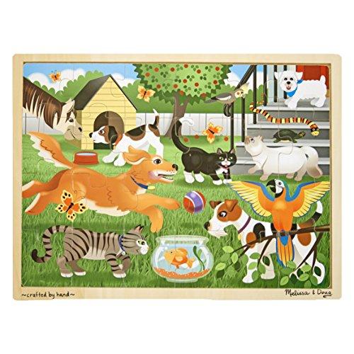 Melissa & Doug - 19059 - Puzzle in Legno - Animali Domestici Giocosi