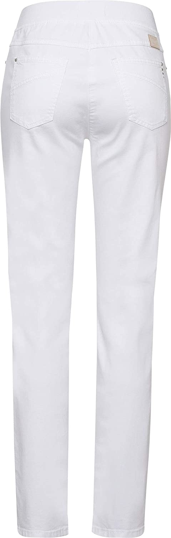 Raphaela by Brax Pamina Denim Jean Slim Femme Blanc (White 99)
