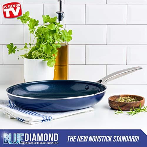 "Blue Diamond Cookware Ceramic Nonstick Frying Pan, 12"""