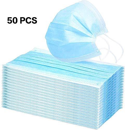 nicebuty 50piezas azul 3capas desechables polvo/quirúrgico másca