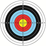 20 Piezas Dianas de Papel de Arco para Flecha, 60*60cm Accesorios de Tiro, Ideales para Hacer Juego y Practicar al Aire Libre