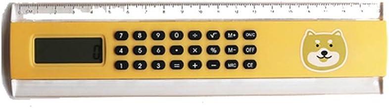 MINRUIGONGMAO Calculator,8-Digit Widescreen Display Calculator, Solar,Office Business Calculator, Scientific, (Color : Yel...