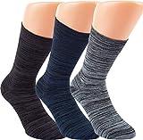 RS. Harmony | Socken & Strümpfe | Bambus Super Weich Atmungsaktiv | 3 Paar | schwarz, marine, silber | 43-46