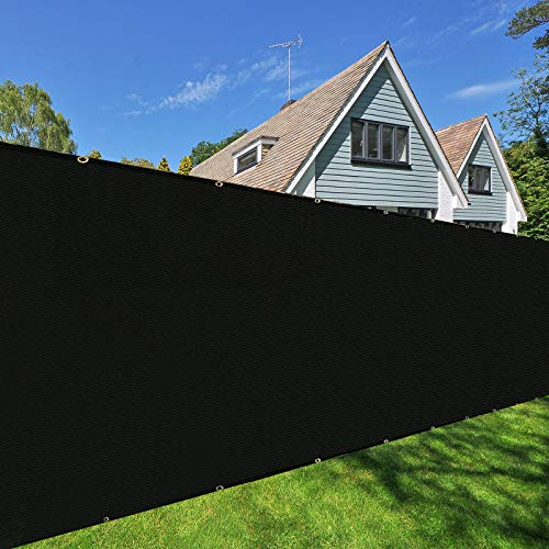 Orgrimmar 6'x50' Fence Privacy Screen Heavy Duty Garden Fence Mesh Shade Net Cover for Outdoor Wall Porch Patio Backyard Balcony (Black)