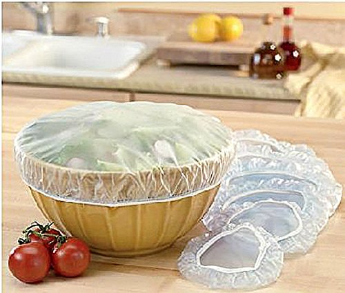 Set of 48 Reusable Elastic Bowl, Dish & Plate Covers - 3 Sizes by Good Old Values