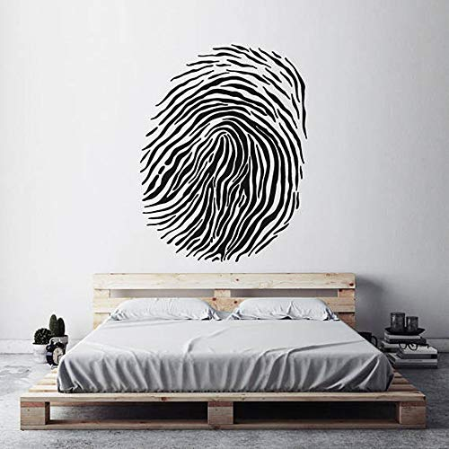 Wall Decal Sticker Art Mural Home Decor Modern Home Decor Finger Print Stencil Thumbprint Forensic Science Wall Decals Living Room Art Wall Sticker Bedroom Murals