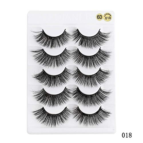 KADIS 5 Pairs 3D Eyelashes Natural False Eyelashes Faux Cils Long Lashes Soft Fake Eyelashes Extension Makeup Cosmetic,SG335