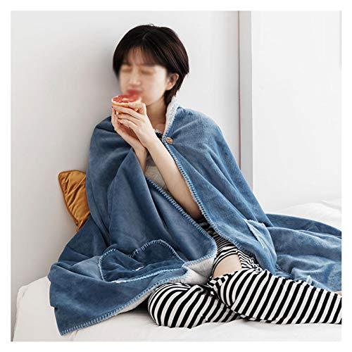 DALLL Manta de manga de Navidad capa y capucha de algodón para adultos y niños, azul, 31 x 79 cm