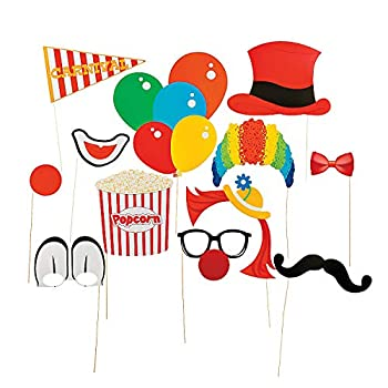 Fun Express Carnival Stick Costume Phoot Booth Props - Apparel Accessories - Costume Accessories - Costume Props - 12 Pieces