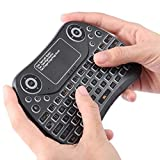 2,4 GHz Mini Smart Bunte Backlit wiederaufladbare Wireless Gaming-Tastatur for Tablette/PC/Android TV-Kasten, mit Touchpad oder Air Mouse LiMinHua
