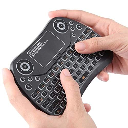 Hanks' shop Wireless Gaming Keyboard For Tablet/PC/Android TV Case, With Touchpad Or Air Mouse