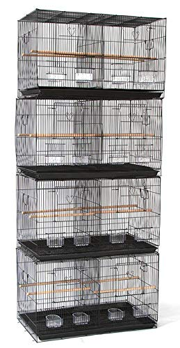 Mcage Lot of Breeding Flight Bird Cage for Aviaries Canaries Budgies Finches Lovebird Parakeet (30'x18'x18' Black with Divider)