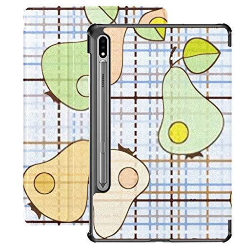 Galaxy Tablet S7 Plus Custodia da 12,4 pollici 2020 con supporto per penna S, colore pera Seamless Vector Wallpaper Custodia protettiva sottile per Samsung