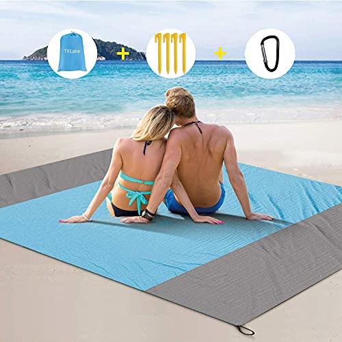 TKLake Beach Blanket, Extra Large 210 x 200cm/78.7 * 82.7IN Waterproof...