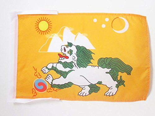AZ FLAG Flagge Tibet 1920-1925 45x30cm mit Kordel - TIBETS Fahne 30 x 45 cm - flaggen Top Qualität
