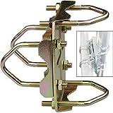erenLine® Kreuzschelle, Doppelrohrschelle; mit Korrosionsschutz, verdrehsicher; z.B. für Geländer- / Balkonmontage, Sonnenschirme; für Rohre bis 60 mm; Doppel-Kreuzschelle, Doppelschelle