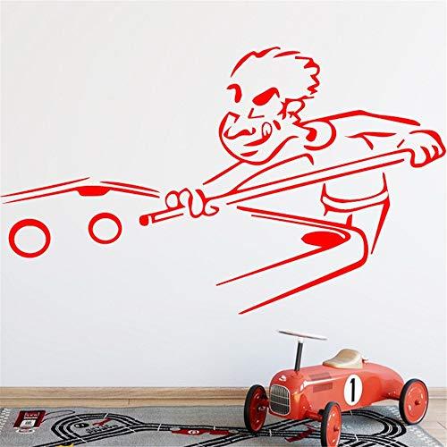 Wandaufkleber Wandtattoo Billiard Funny Snooker Sports for Boys Room Decorative PVC Art Livingroom Art Home Decor