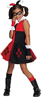Rubie's DC Super Villain Collection Harley Quinn Girl's Costume with Tutu Dress, Medium