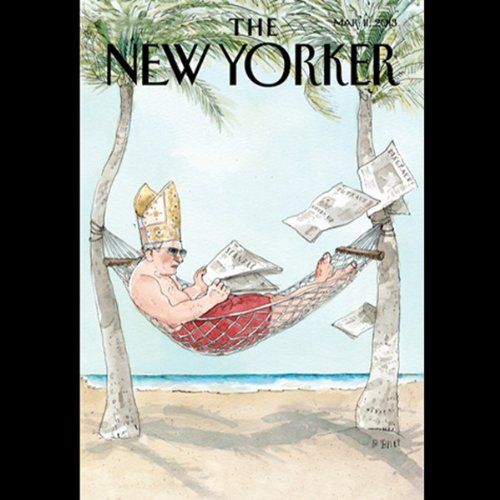 The New Yorker, March 11th 2013 (Jeffrey Toobin, Alec Wilkinson, Paul Simms)                   By:                                                                                                                                 Jeffrey Toobin,                                                                                        Alec Wilkinson,                                                                                        Paul Simms                               Narrated by:                                                                                                                                 Dan Bernard,                                                                                        Christine Marshall                      Length: 1 hr and 53 mins     Not rated yet     Overall 0.0